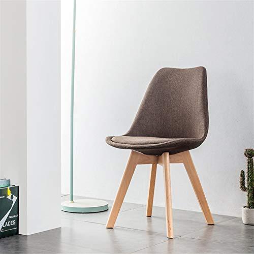 HOUSEHOLD Gaming Chair High Back Bürostuhl Bürostuhl Rac Nordic Massivholz-Stoff Stuhl speist Tulip-Beutel-Stuhl Einfacher moderner kreative Verhandlungs Stuhl Soft Bag Freizeit-Stuhl (Color : D)