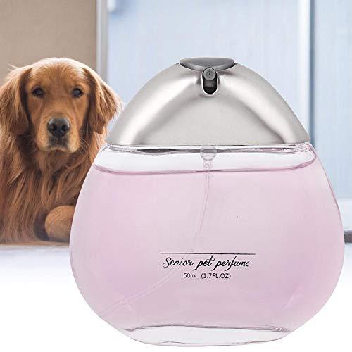 SALUTUYA Haustier Parfüm, Exquisite Glasflasche, Haustier Gromming Zubehör Spezialflasche Mund Design,(Pink Mist)