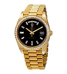 Day-Date Black Dial 18K Yellow Gold Automatic Watch 228398BKDP