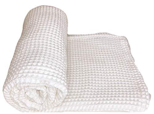 Stroller Society Baby Waffle Blanket Cotton Waffle Blanket Baby Receiving Blanket Toddler Blanket Multiple Colors Swaddle Blanket Girl Swaddle Blanket Boy White