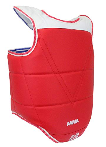 AAMA Solid Reversible Olympic Style Taekwondo Chest Guard Protector - Size 0