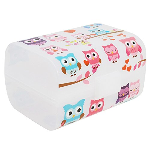 COM-FOUR® Caja de desayuno vintage - Caja de almuerzo con 3 compartimentos -...