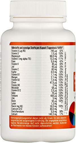 Vihado Multivitamin Tabletten hochdosiert – 26 Vitamine + Mineralstoffe + Q10 + Tagetes Erecta, 60 Kapseln, 1er Pack (1 x 52,7 g) - 2