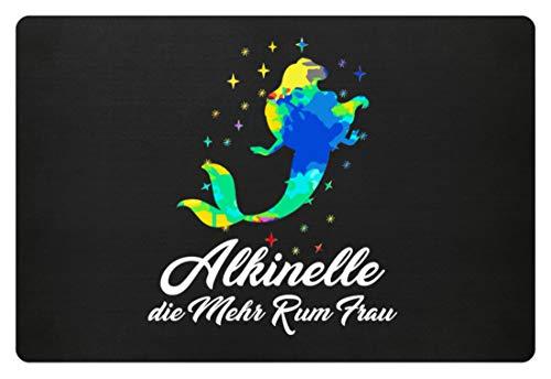 Alkinelle, de Meer Rum Vrouw - voor wondermooie vrouwen, de Graag drinken, alcohol, leuk - deurmat