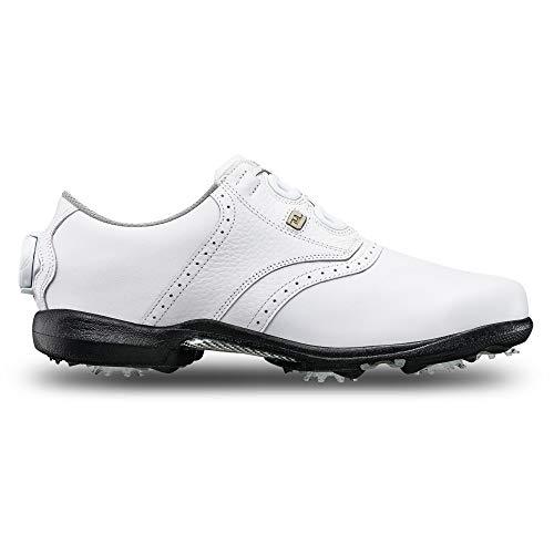 FootJoy Damen DryJoys Boa Golfschuhe, weiß, 39 EU
