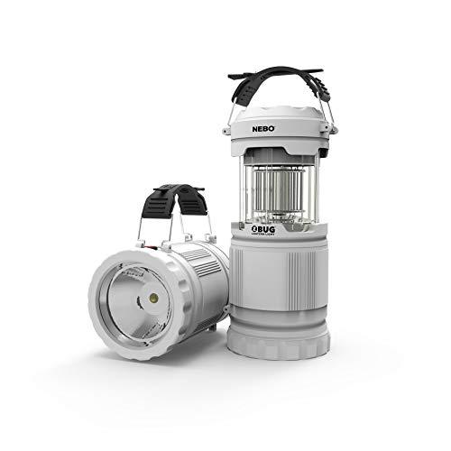 NEBO 6587 Z-Bug Lantern + Light - Spot Light, Lantern, Portable UV Bug Zapper for Camping, Backyard, Sporting Events