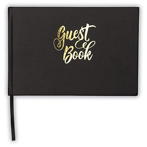 Libro de invitados negro – libro de invitados de tapa dura...