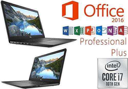 Notebook INSPIRON 17 3793 - Intel Core i7-1065G7 - 16GB-RAM - 500GB NVMe SSD + 1000GB - Windows 10 + MS Office 2016 Pro - 44cm (17.3