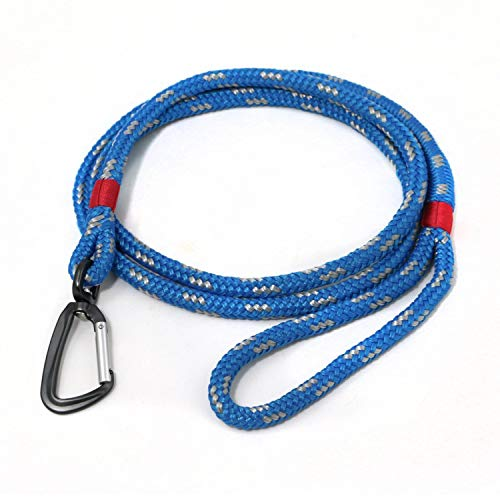 Kurgo Humble Dog Leash, Tangle Free Leash for Dogs with Swivel Carabiner, Pet Leashes for Walking, Hiking, and Running, Water Resistant, Marine Grade Nautical Rope, Lightweight, 65""