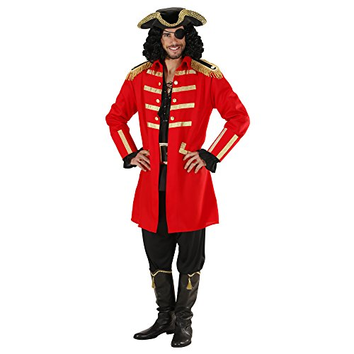 WIDMANN WDM89271 - Costume Per Adulti Pirata/Capitano, Rosso, S
