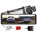 【2.5K Full HD Resolution】AZDOME PG16S Mirror Dash Cam is equipped with 2.5K(1440P) HD front camera and 1080P rear backup camera. Provide you much clearer footage capturing license plates from a distance. 170° adjustable front lens and 150° rear lens ...