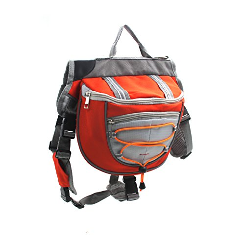 Hund Rucksack verstellbar Pack Satteltasche Stil Hund Zubehör Hunderucksack für Wandern Camping Reise