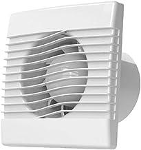 Cata Bathroom Glass Extractor Fan 150mm White Humidistat Temperature Display 240 VAC