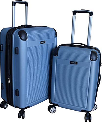Kemyer 900 Series 2-PC Lightweight Expandable Spinner Luggage Set (Light Blue)
