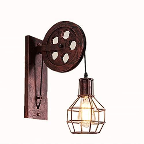 Apliques De Interior Iluminación De Pared Lámpara de pared americano rural retro industrial eólica personalidad creativa noche lámpara de cama restaurante hotel Habitación de huésped iluminación de la
