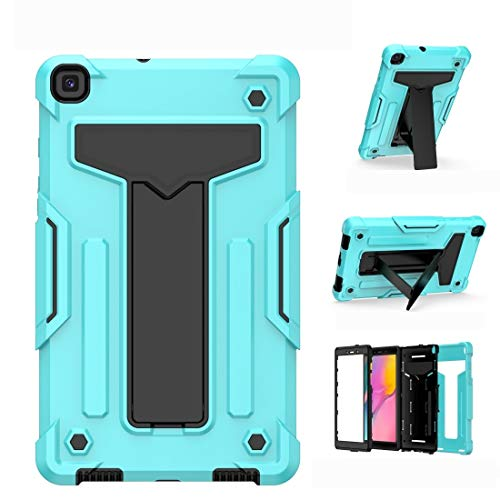 Zhouzl Galaxy tablet case For Samsung Galaxy Tab A8.0 (2019) T290 T-shaped Bracket Contrast Color Shockproof PC + Silicone Flat Protective Case Galaxy tablet case (Color : Mint Green+Black)