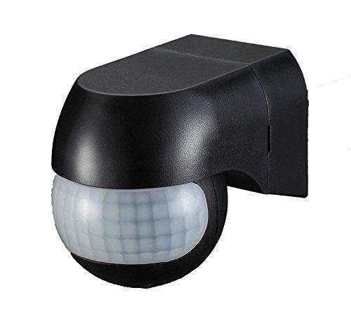 Outdoor 180 Degree PIR Motion Sensor Detector Switch Black