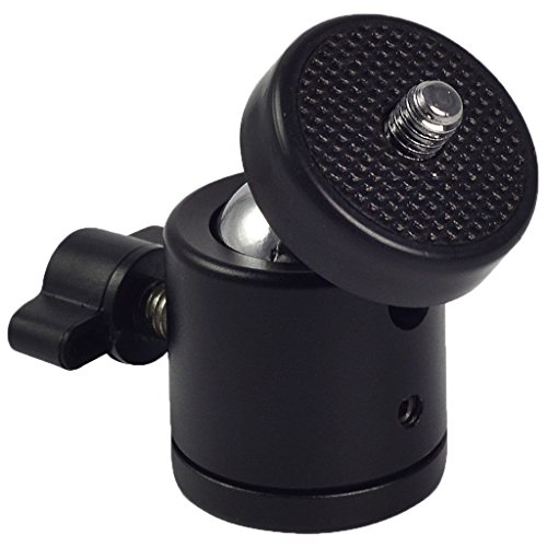 ノーブランド品  DSLR カメラ対応 1/4 ''ネジ 三脚ボール ヘッドブラケット/ホルダー/マウント