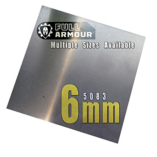 Piastra in alluminio, 6 mm, 5083, 100mm x 100mm, 1