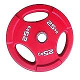 Discos de Pesas 2 Placas de Mano PCS Color de la PU Pesas de Peso Resistente al Desgaste Peso Home Plate Pesas en Cuclillas for la Aptitud Barra Plate Discos para Pesas (tamaño : 50kg(25kg*2))