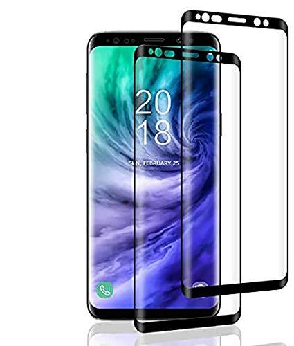 Aspiree 2 Pezzi Vetro Temperato Compatibile con Samsung Galaxy S8,Pellicola 3D Curvo Copertura Completa, Durezza 9H,Senza Bolle,Ultra Resistente per Galaxy S8 Schermo Protettiva