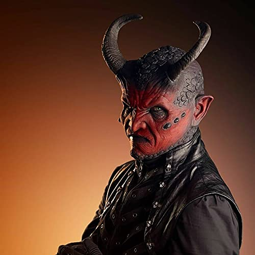 HeiHeiDa Vampir Maske Halloween Latex Horror Außerirdischer Kopfbedeckung Horror Mumie Handschuhe Cosplay Horror Vollmaske, Latex Ganzgesicht Kostüm Maske für Kostümparty