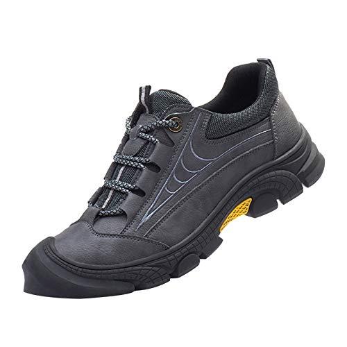 shoe Calzado de Trabajo de Seguridad para Hombres,Zapatos con Punta de Acero Ligeros y cómodos,Calzado de protección para Exteriores Resistente a Perforaciones Calzado de Seguridad Aislado