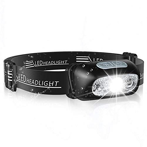 LED Headlamp With Red Light 60° Adjustable Head Light For Runnining Hiking GG