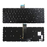 Zahara Laptop US Keyboard Backlit Replacement for Toshiba Satellite E45t-B4204 E45T-B4300 E45T-B4106 E45T-B E45-B Series