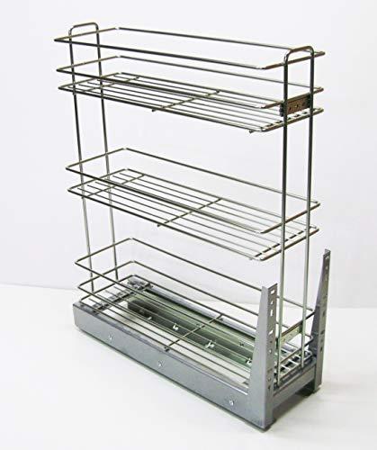 Nisko cestello Estraibile Cucina Dispenser Inox Estrazione Totale - Soft Closing (per Modulo da 20Cm)