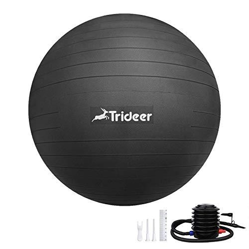 Trideer バランスボール 45/55/65/75cm フットポンプ付