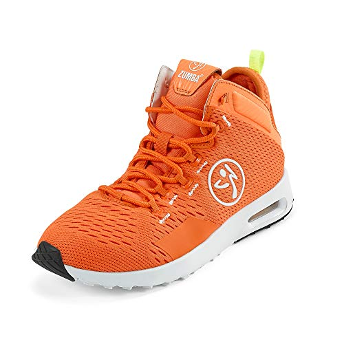 Zumba Air Classic Remix Sportliche High Top Tanzschuhe Damen Fitness Workout Sneakers, Orange, 39