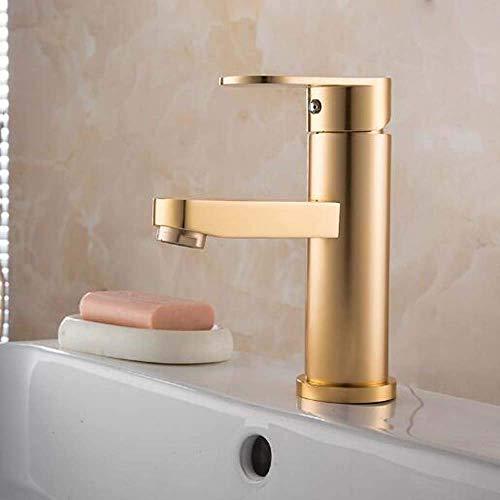 Grifo de lavabo Lavabo de baño Lavabo de baño Grifos de agua fría y caliente Válvula mezcladora de lavabo Dorada