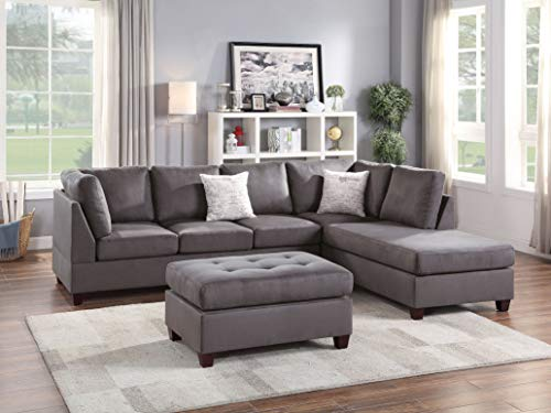 Poundex Sectional, Grey