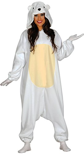 Guirca- Disfraz adulta pijama oso polar, Talla 38-40 (84987.0)
