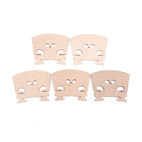 Puentes de violín de madera de arce duraderos profesionales para piezas de repuesto de instrumentos musicales de violín