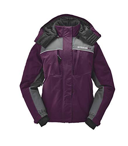 StrikerICE Women's Fishing Cold-Weather Waterproof Prism Jacket, Size 12, Marsala/Gray