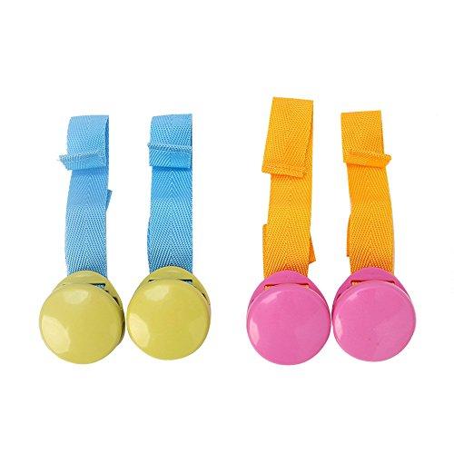 Pinzas para cochecito de bebé, pinzas para colgar muselina y juguetes, clips para fundas de asiento de coche, 2 unidades, color aleatorio