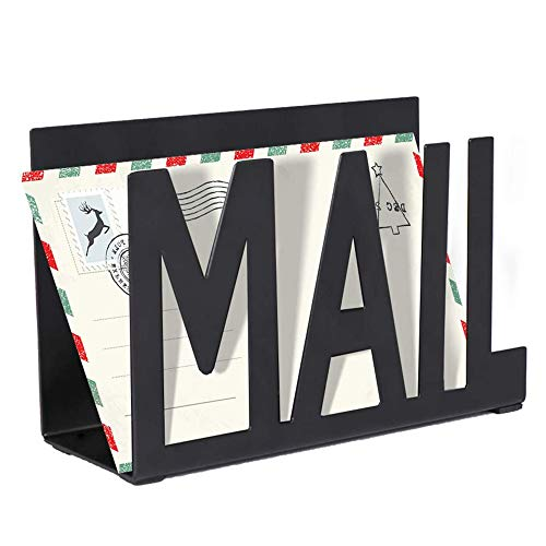 Interoceanic Metal Mail Organizer – Mail Order, Mail Sorter, Letter Holder for Home, Office, Kitchen Countertop, Desktop