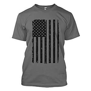 Distressed Black USA Flag – United States Men's T-Shirt