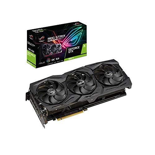 ASUS Rog Strix GeForceGTX 1660 Ti OC Edition 6 GB GDDR6, Scheda Video Gaming, Dissipatore Biventola per Gaming FullHD, Alti Refresh Rate
