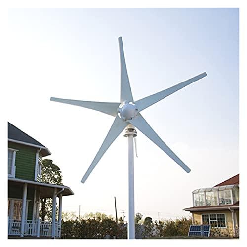 Generador de viento Generador de energía de la turbina eólica 800W 6 cuchillas 12V / 24V opcional usadas para la tierra marina para marina, RV, Casa, traje de generador de molino de viento.