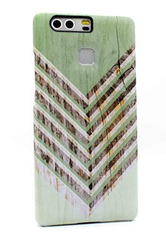 Mrwildstudio Funda P9 verde Chevron Case funda para Huawei P9 Cover
