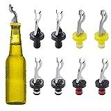 NAMIS Tappi per Bottiglie di Vino con Leva 8 Pezzi Tappi per Bottiglie in Silicone Tappo per Bottiglia Riutilizzabile per Vino Champagne Birra Bevande Vetro Spumante (4 Colori)