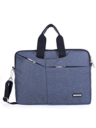 Parvenir Office Laptop Bags Briefcase 14 Inch for Women and Men (Black) (Parv-107B)