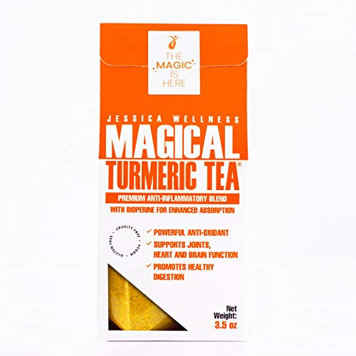 Jessica Wellness Turmeric Curcumin Tea - Organic Turmeric Curcumin with Bioperine And Ginger