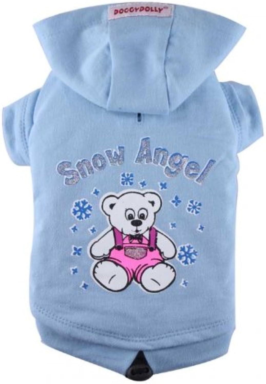 Doggydolly Snow angel big dog hoodie light bluee