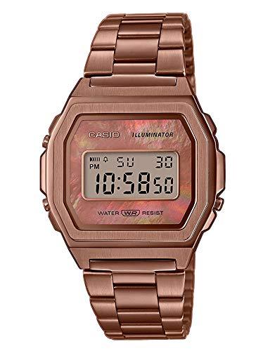 Casio Reloj Digital para Mujer de Cuarzo con Correa en Acero Inoxidable A1000RG-5EF