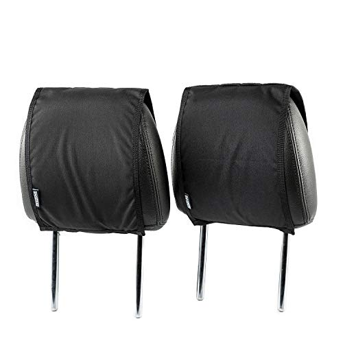 OneTigris Tactical Headrest Cover with MOLLE Back Panel for Car Seat (Black, 1 Pair)