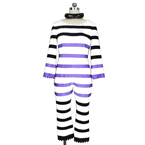 Detentionhouse Nanbaka Nanba Prison Jyugo Outfit Anime Cosplay Costume S002 (Male XL)